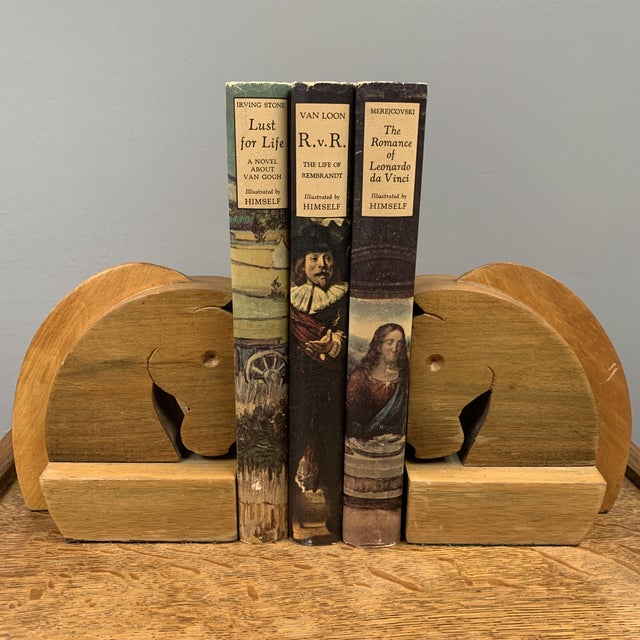 Art Deco Vintage Hard Carved Horse Bookends - a Pair For Sale - Image 3 of 5