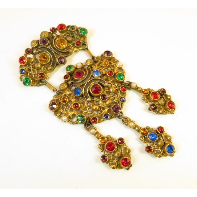 Victorian Austro-Hungarian Bejeweled Crystal Parure 1870s For Sale - Image 4 of 13