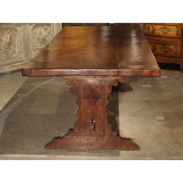 Antique Italy, 19th Century Oak Dining Table For Sale - Image 10 of 11