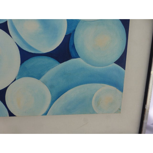 "1960s ""Bubbles"" a Pop Geometric Modern Mid Century Painting For Sale - Image 5 of 13"
