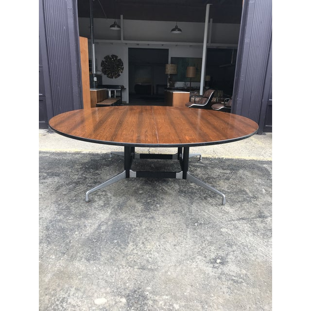 """Mid-Century Modern 78""""d Eames Herman Miller Rosewood Conference Table For Sale - Image 3 of 12"""