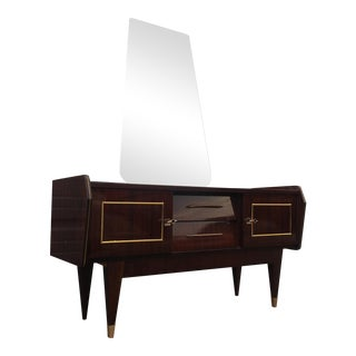 French Art Deco Ladies Dressing Vanity With Mirror For Sale