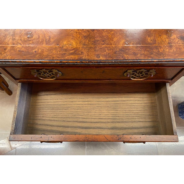 Burl Veneered All Sides 4-Drawer Chest For Sale - Image 9 of 11
