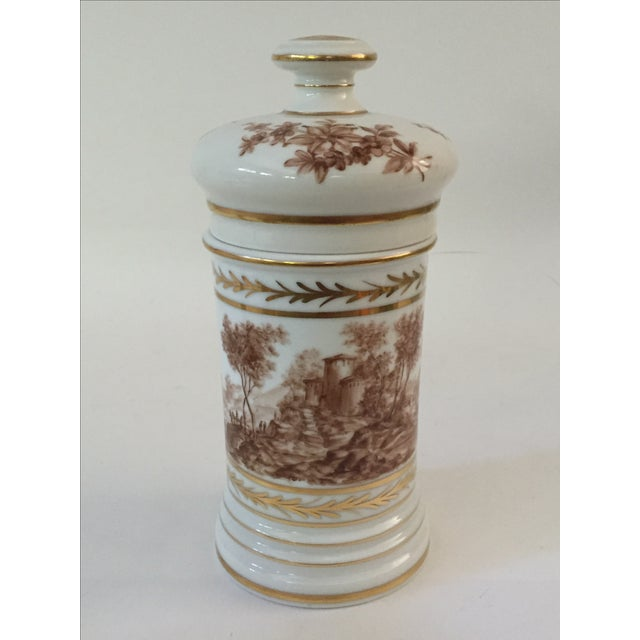 Antique Porcelain Apothecary Jar - Image 2 of 7