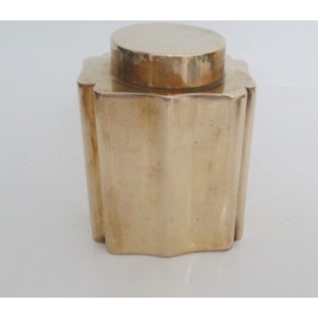 Antique Brass Canister - Image 2 of 9