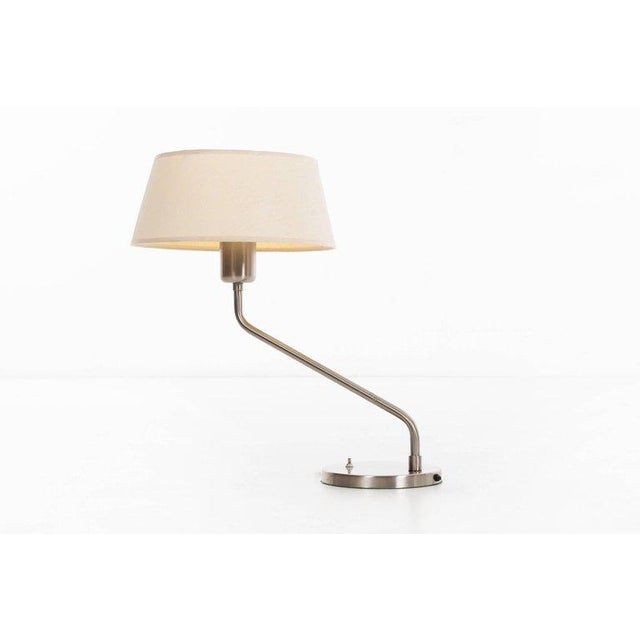 Vintage 1960s Walter Von Nessen Table Lamp With Shade For Sale - Image 9 of 9