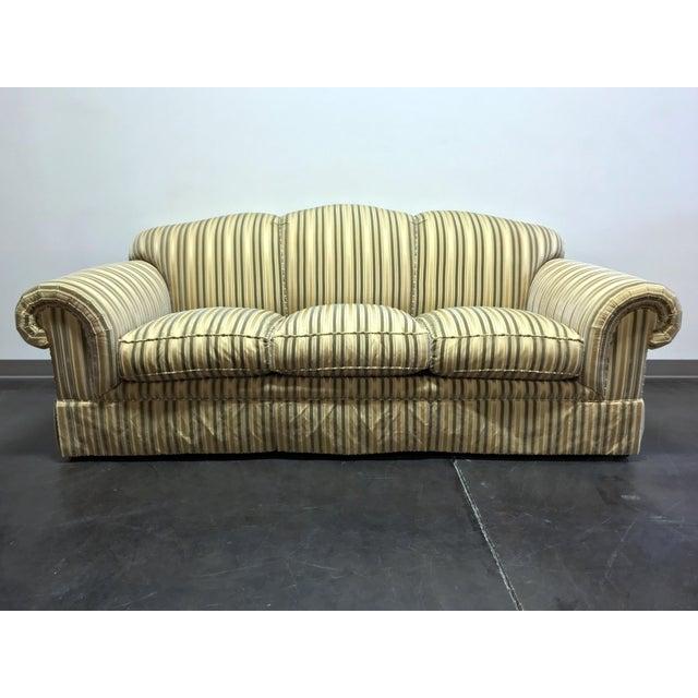 Baker Roll Arm Sofa in Cut Velvet For Sale - Image 13 of 13