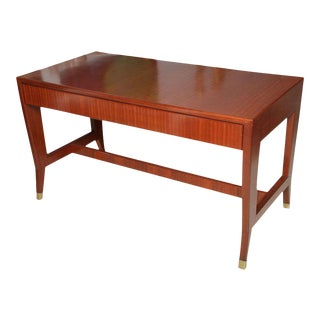 Italian Modern Mahogany Desk/Writing Table, Gio Ponti For Sale