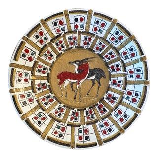 Italian Numbered Ceramic Plate/ 1950's