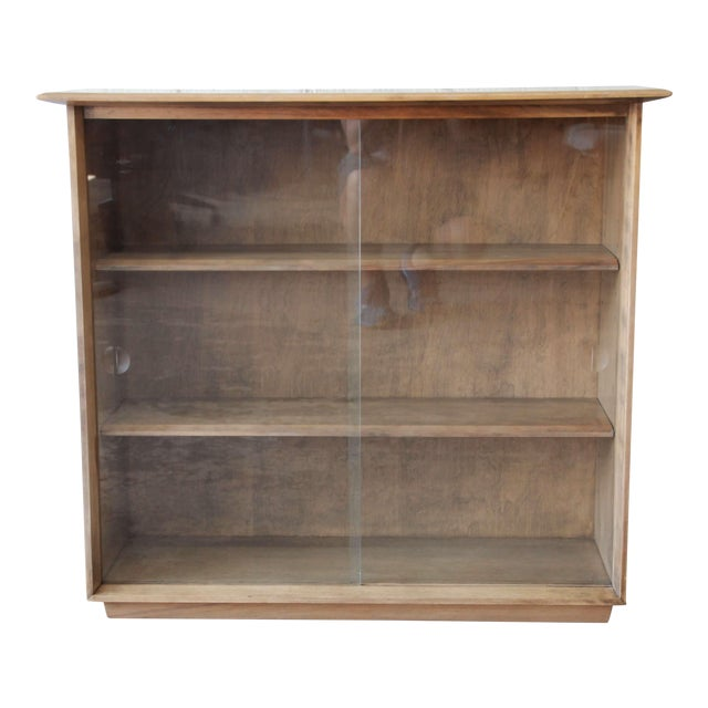 reputable site 87bb8 a9d79 Heywood-Wakefield Mid-Century Modern Glass Front Bookcase