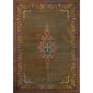 Circa 1890 Hand-Woven Antique Indian Agra Rug - 12′ × 16′ -- 100991 For Sale