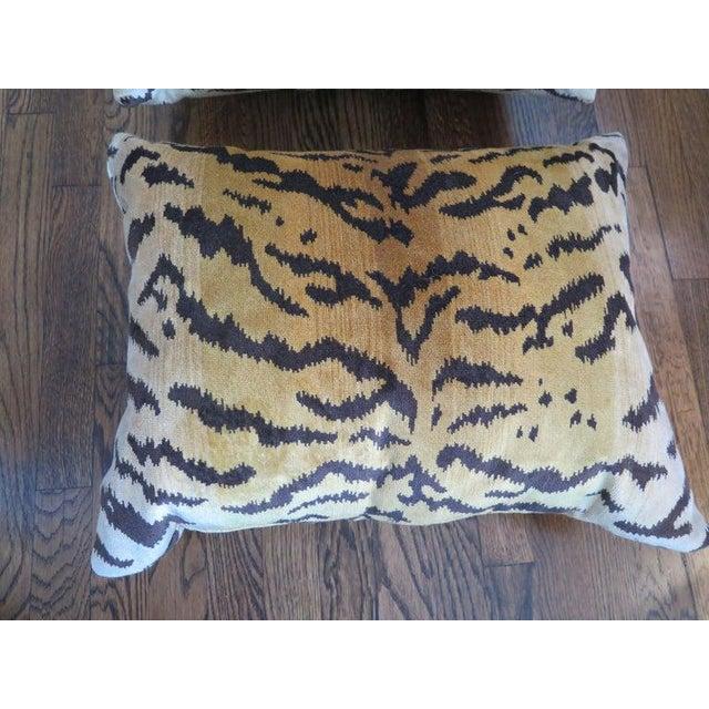 Scalamandre Scalamandré Le Tigre Silk Velvet Pillows For Sale - Image 4 of 6