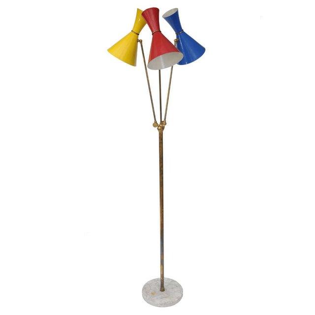 Stilnovo Italian Three-Light Floor Lamp For Sale