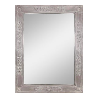 Vintage Rectangular Hand-Painted Mirror For Sale