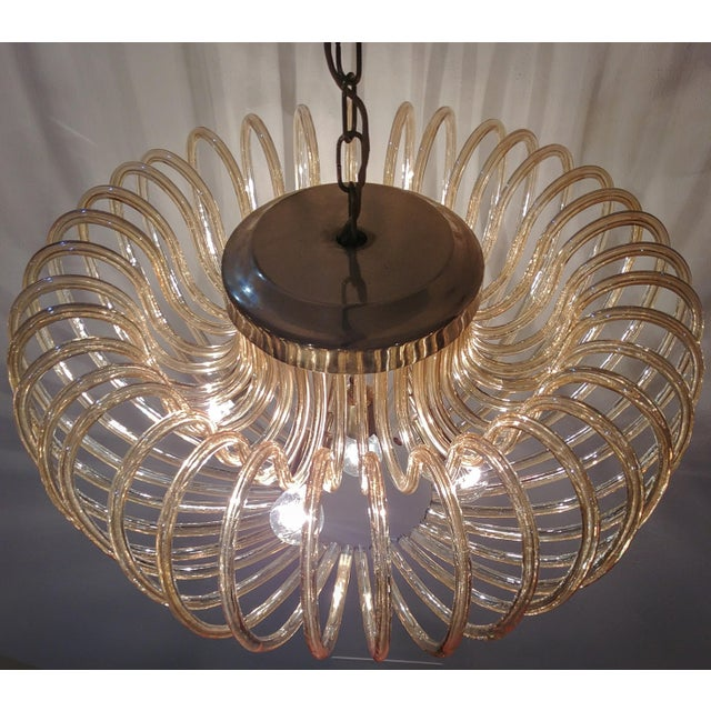 High end murano crystal chandelier with 36 curved glass italy 1960 murano crystal chandelier with 36 curved glass italy 1960 image 6 of 11 aloadofball Gallery