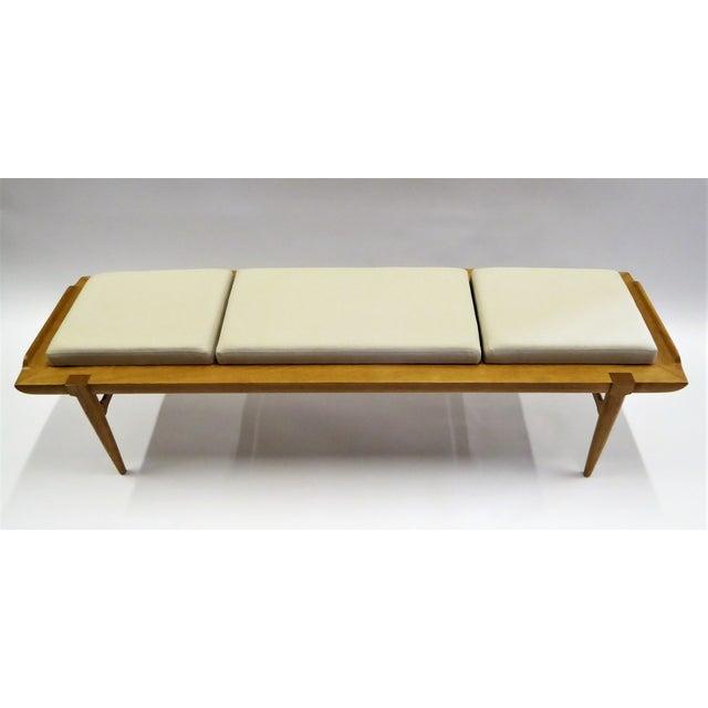 Danish Modern 1950s Tomlinson's Sophisticates Line Mid-Century Modern Walnut Bench For Sale - Image 3 of 13