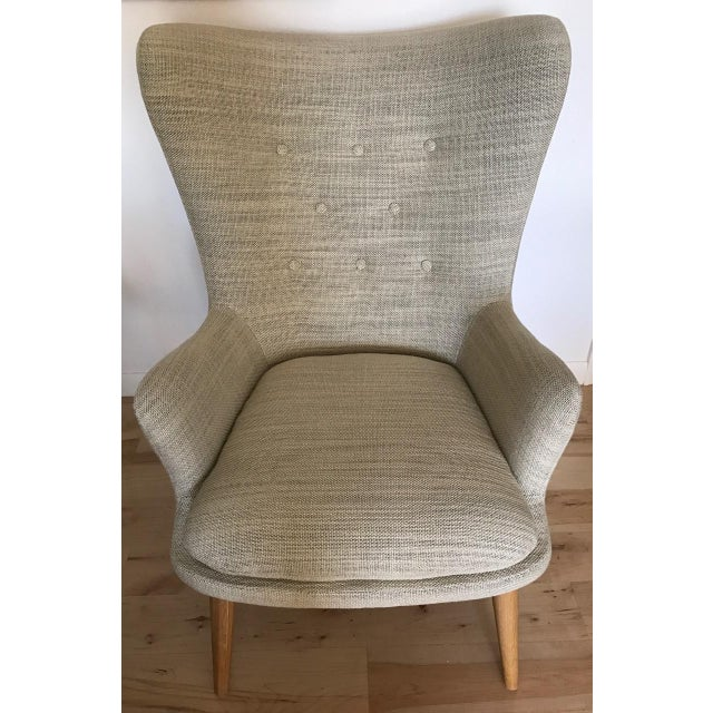 West Elm Wingback Chair - Image 2 of 6