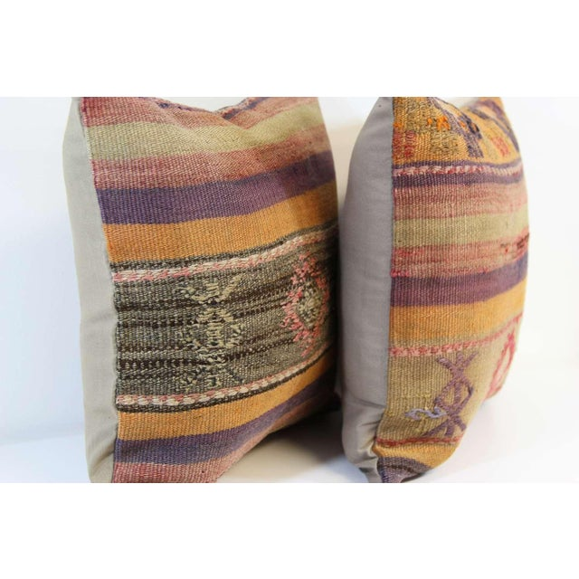 Turkish Kilim Pillow Covers - A Pair - Image 3 of 7