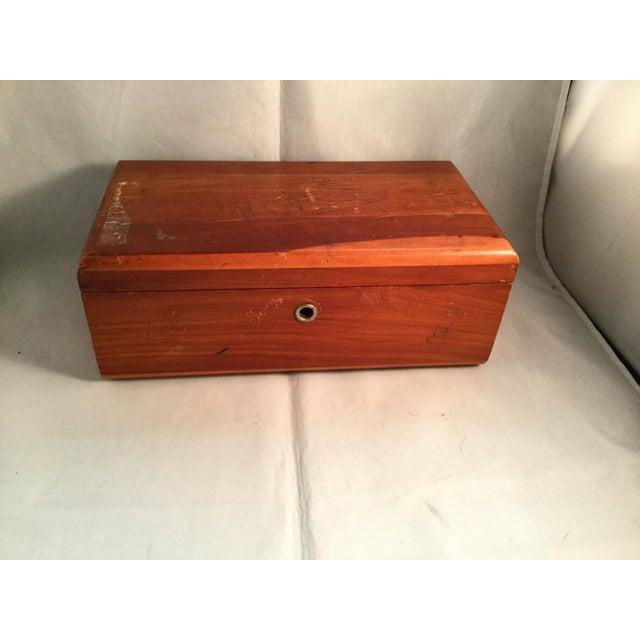 Brown Lane Cedar Handmade Wooden Box, 1980s For Sale - Image 8 of 9