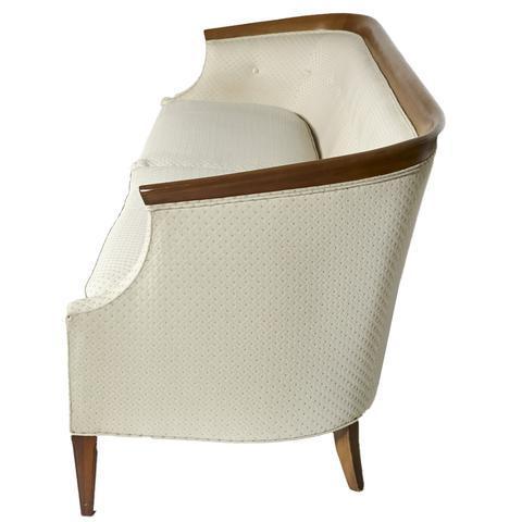 Erwin Lambeth For Tomlinson Furniture Walnut Sculpted Sofa