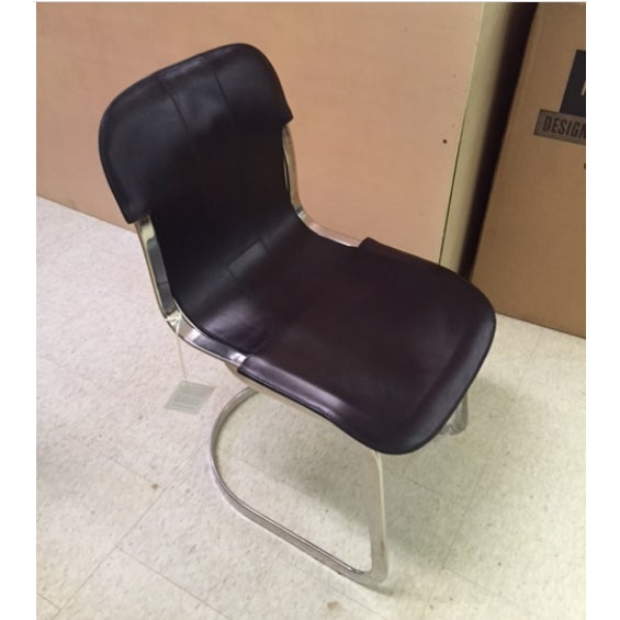 Rizzo Black Leather Side Chair - Image 2 of 3