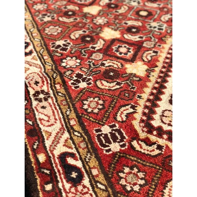 1960s Vintage Persian Karajeh Runner Rug - 3′7″ × 10′6″ For Sale - Image 10 of 13