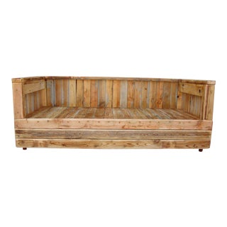 1990s Vintage Rustic Outdoor Bench For Sale