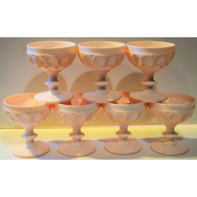 Ceramic Vintage Champagne Coupe Glasses - Set of 7 For Sale - Image 7 of 8