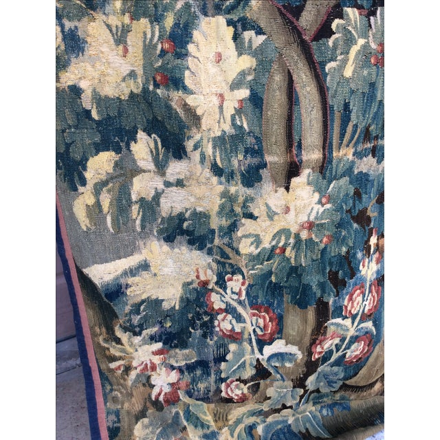 19th C. French Verdure Tapestry - Image 4 of 5