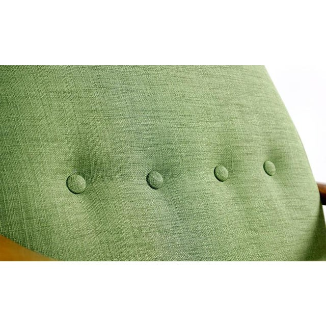 Green Mid Century Modern Arm Chair - Image 5 of 8
