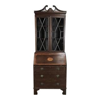 Secretary Bookcase, Edwardian Period English Mahogany For Sale