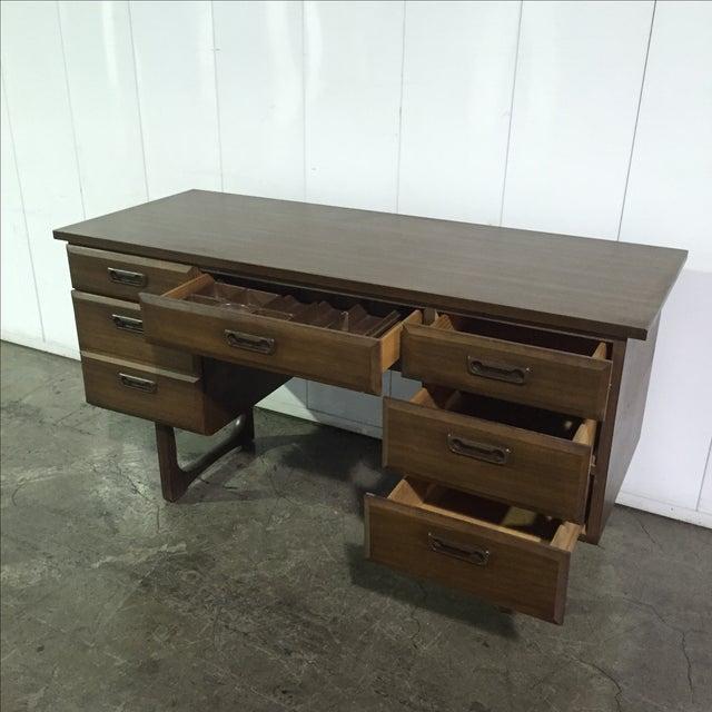 Mid-Century Danish Style Executive Desk - Image 4 of 5
