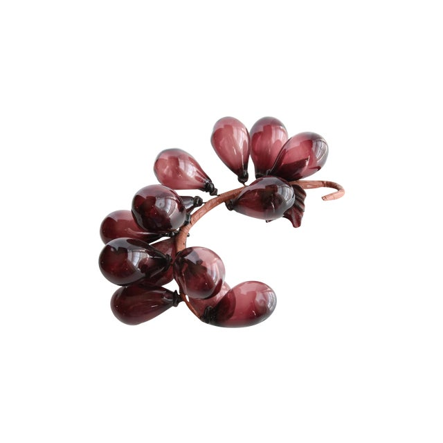 Blown Glass Grapes - Image 1 of 6