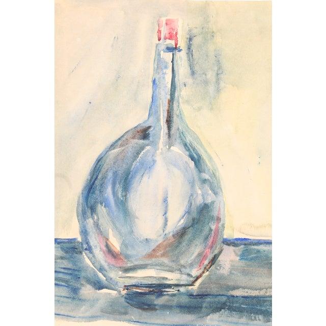 Blue Bottle Watercolor Painting by Kathryn Bernard - Image 1 of 4