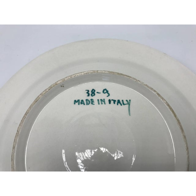 Ceramic 1970s Italian Ceramic Plate With Floral Motif Sculpture For Sale - Image 7 of 9