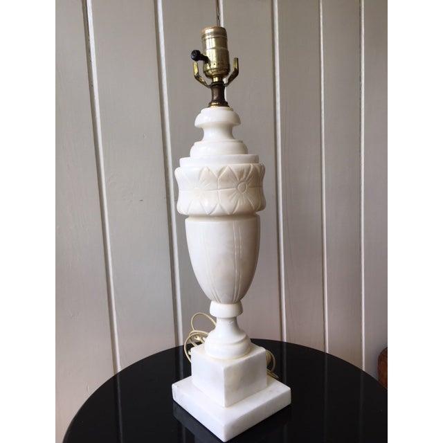 Vintage Alabaster Marble Lamp For Sale - Image 10 of 10