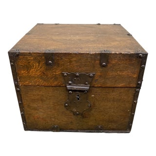 Early 20th Century Locked Decorative Box For Sale