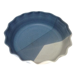 Handmade Artisan Pottery Pie Plate For Sale