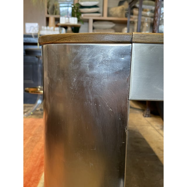 1970s Chrome and Mirror Console Table For Sale - Image 9 of 13