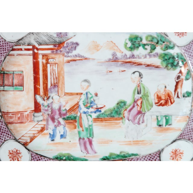 Ceramic Chinese Export / Manderin Palette Platter For Sale - Image 7 of 12