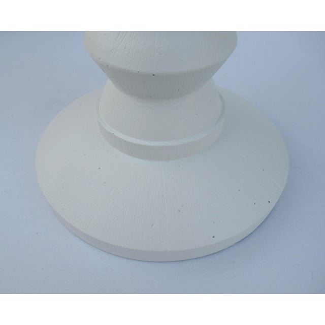 Mid-Century Plaster Zig-Zag Tiered Lamp For Sale In West Palm - Image 6 of 13