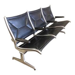 "1960s Vintage Eames Tandem Sling ""Airport "" Sofa For Sale"