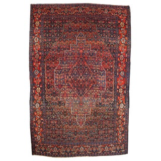 """Antique Persian Senneh Rug- 4'1"""" x 6'6"""" For Sale"""
