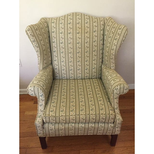 Heirloom Wingback Style Arm Chair by Baker Furniture For Sale - Image 5 of 6
