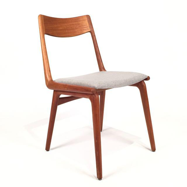 Vintage Erik Christensen for Slagelse Mobelfabrik Danish Teak Boomerang Chairs - Set of 6 For Sale - Image 5 of 6