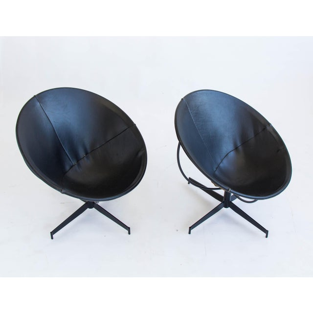 Leather Bucket Chairs by William Katavolos - Pair - Image 7 of 9