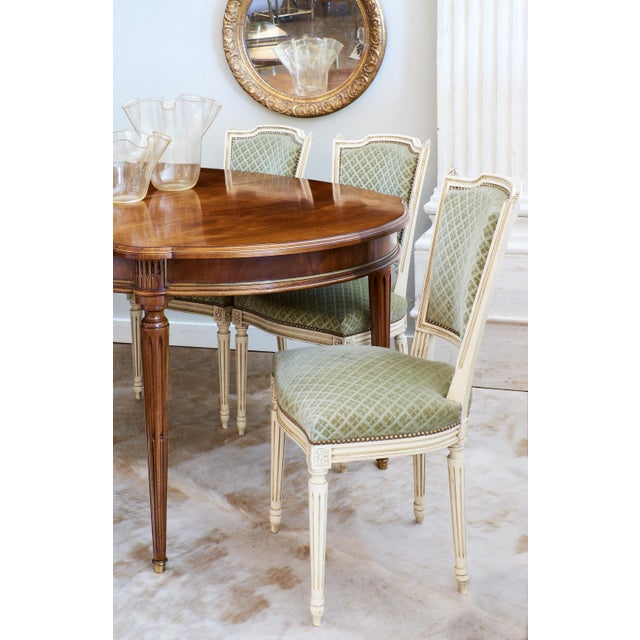 Louis XVI Style French Antique Sage Green Dining Chairs ...