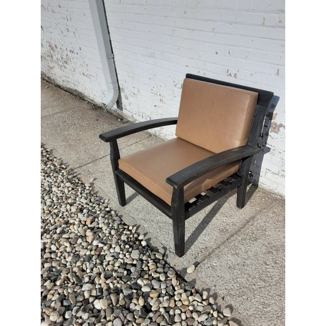 Wood Rustic Mission-Style Chair For Sale - Image 7 of 7