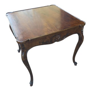 Carved Italian Game Table