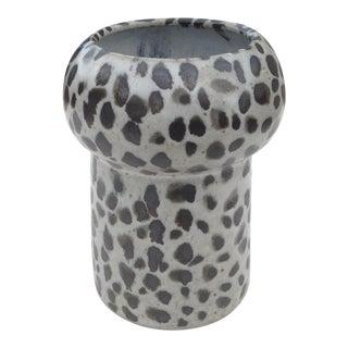 Boho Chic Spotted Pottery Utensil Vase For Sale